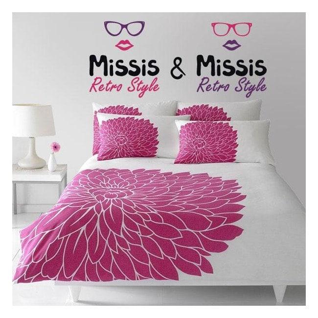 Adesivi decorativi in vinile Missis e Missis