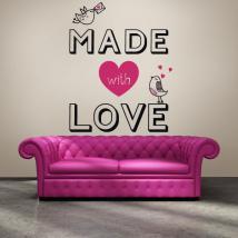 Pannelli luminescente, dividendo il testo romantico fluowall Made con amore