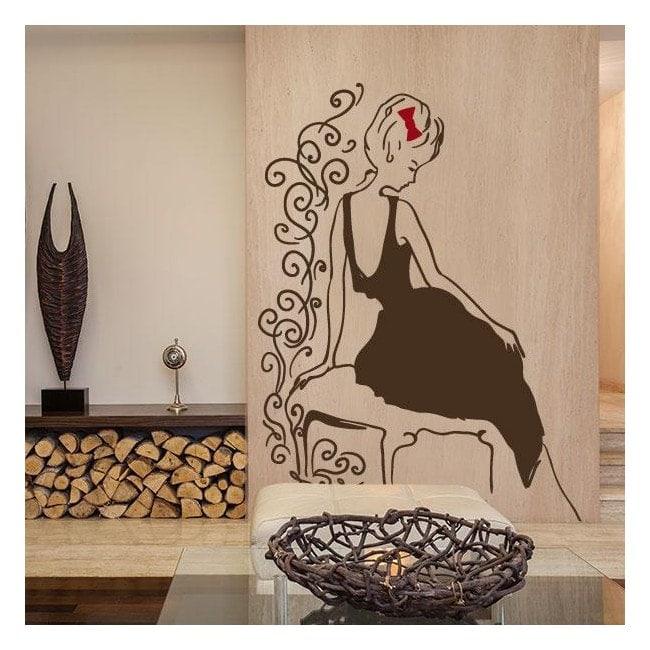 Vinile decorativo silhouette Glamour femminile
