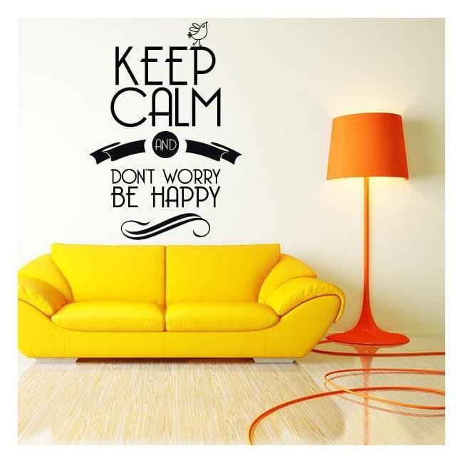 Vinile decorativi adesivi e adesivi di mantenere la calma - Adesivi decorativi per mobili ...