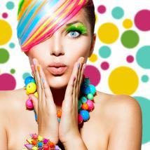 Cerchi adesivo vinile decorativo di colori