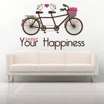 Frase di vinile decorativo Condividi vostra felicità