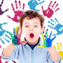 Vinile decorativo mani colori pittura