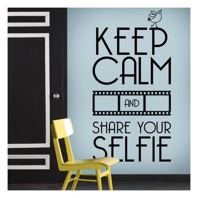 Vinile decorativo mantenere calma e Share Your Selfie