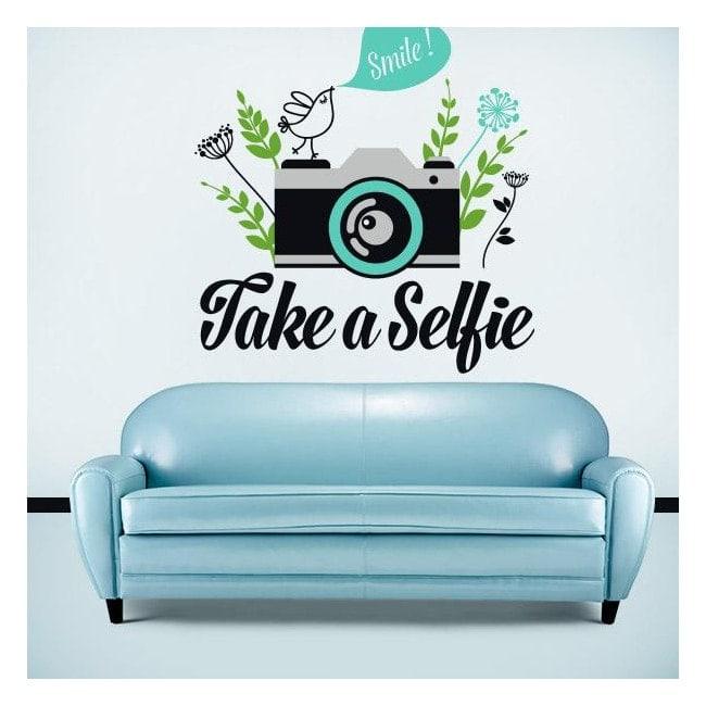 Adesivi in vinile decorativo prendono un Selfie