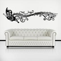 Musicali decorativi vinile adesivo di farfalla