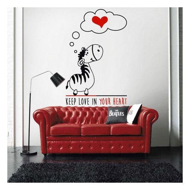 Decorativi frase di vinile romantico al Zebra