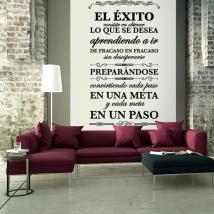 Successo di frasi e citazioni di vinile decorativo