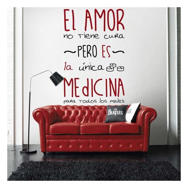 Medicina di vinile adesivo decorativo amore