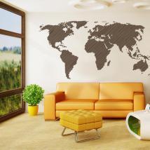 Linee di vinile adesivo decorativo mondo mappa