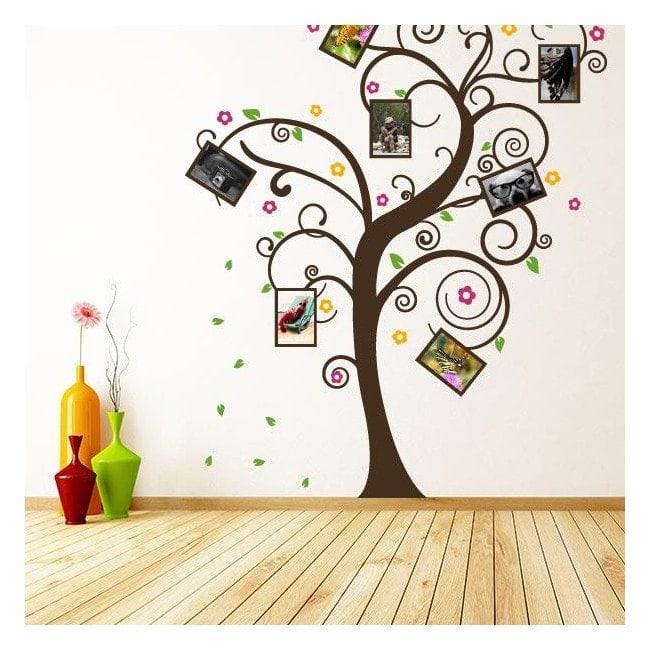 Foto di famiglia albero di vinile decorativo