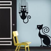 Adesivi in vinile decorativo e adesivo gatti