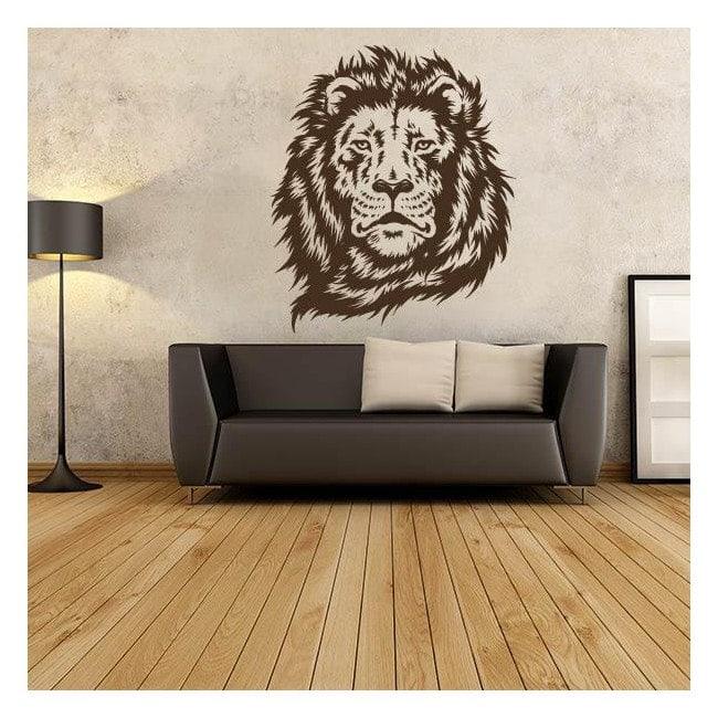 Faccia di leone sagoma decorativa vinile