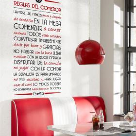 Regole di vinile decorative della sala da pranzo