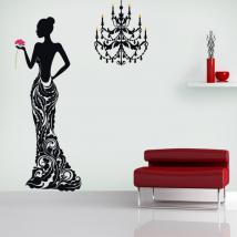 Adesivi parete donna sagoma Deluxe