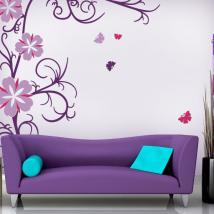 Vinile decorativo e fiori adesivi