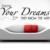 Adesivi in vinile decorativo seguono i tuoi sogni