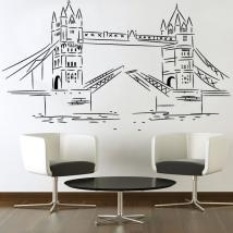 Vinile decorativi adesivi London Tower Bridge