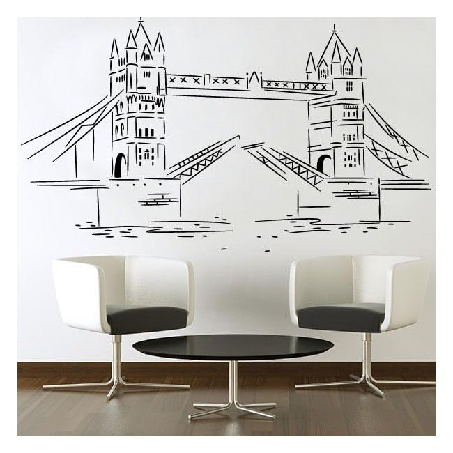 Vinile decorativi adesivi london tower bridge for Adesivi decorativi per mobili