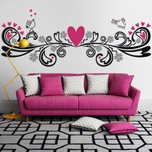 Pareti di vinile decorativo con un tocco d'amore