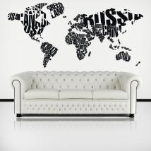 Luminescenti pannelli divisoria fluowall tipografiche mondo mappa testi