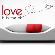 Vinile decorativo inglese frasi Love Is In The Air