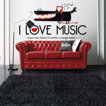 Vinili decorativi I Love Music