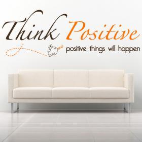 Frase inglese vinile decorativo pensare positivo