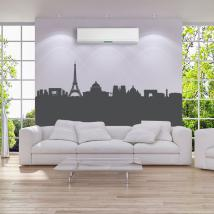 Vinile decorativo Skyline Parigi panoramica
