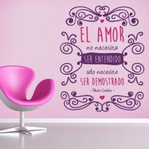 Vinile decorativo romantico frase di Paulo Coelho