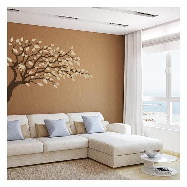 Ramo di albero decorativo del vinile con foglie
