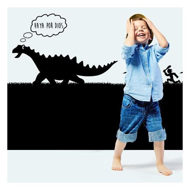 Caccia di dinosauro bambino vinile decorativo