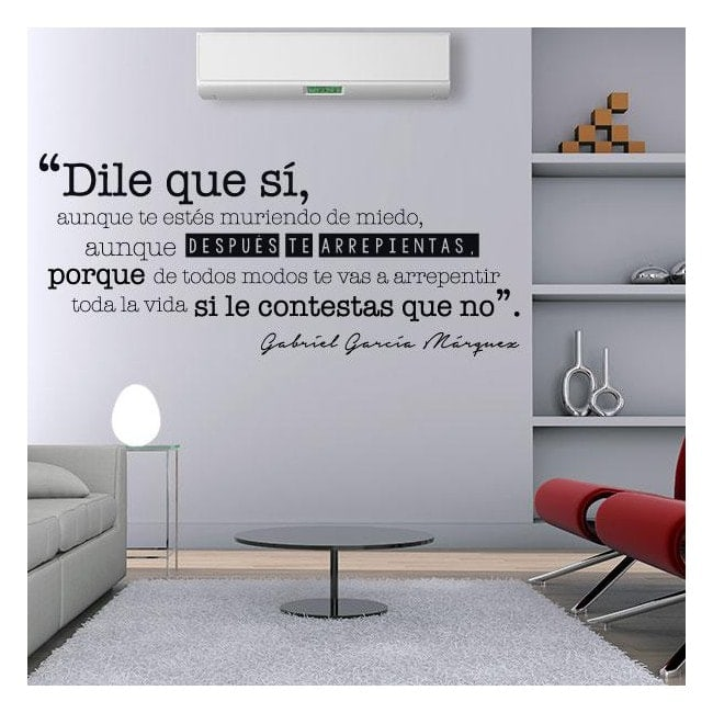 Frase di vinile decorativo Gabriel García Márquez
