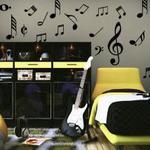 Vinile decorativo Kit note musicali