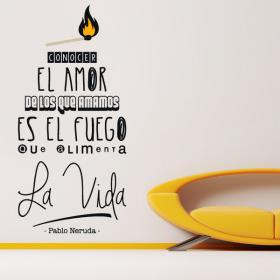 Frase di vinile decorativo Pablo Neruda