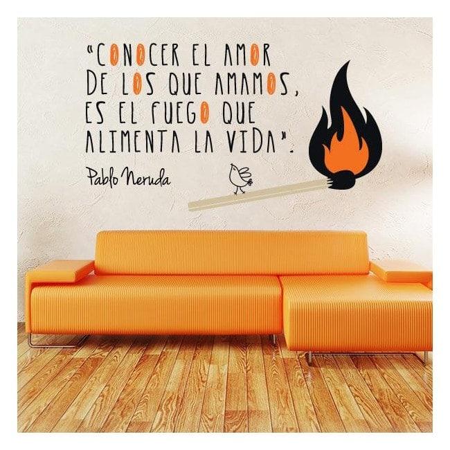 Vinile decorativo citazioni di Pablo Neruda