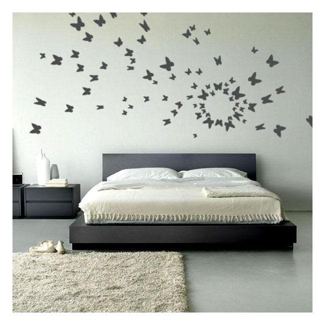 Farfalle decorative vinile al volo