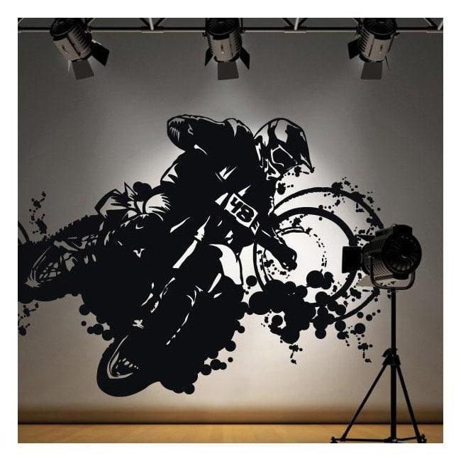 Vinile adesivo decorativo Motocross