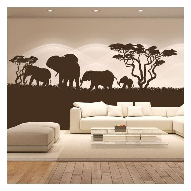 Elefanti africani vinile decorativo