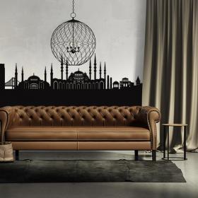Vinile decorativo Skyline di Istanbul