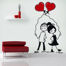 Momenti romantici di vinile decorativo