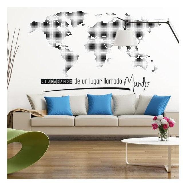 Adesivi Mondo Mappa Mondiale Cittadini