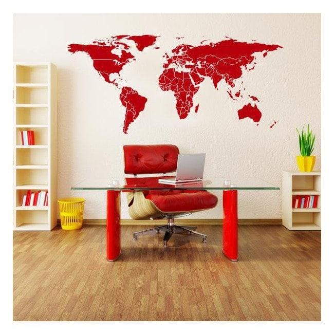 Mappa del mondo di vinile