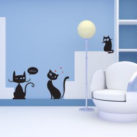 Pannelli luminescente dividendo fluowall gatti Meow
