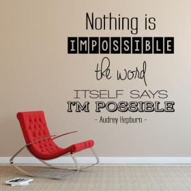 Vinile decorativo frasi di Audrey Hepburn