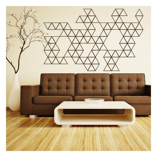 Triangoli di vinile decorativo decorazione
