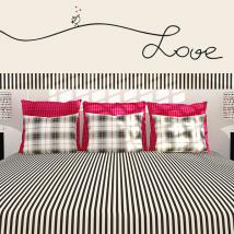 Testi di vinile decorativo decorano pareti amore