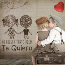 Romantico di vinile decorativo frasi Te Quiero