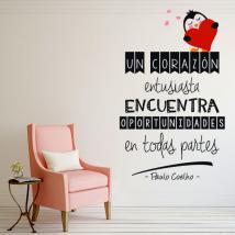 Vinile decorativo frasi di Paulo Coelho un cuore