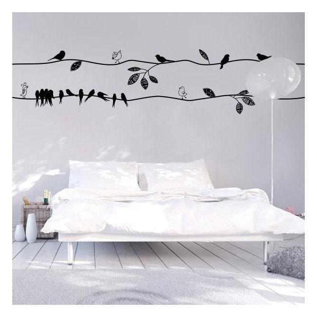 Uccelli di vinile con stile